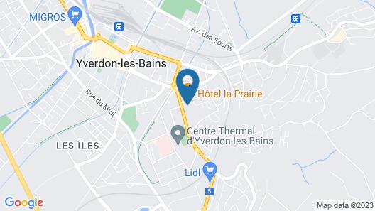Hôtel La Prairie Map