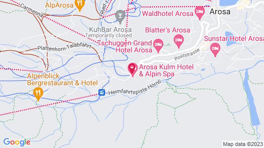 Arosa Kulm Hotel & Alpin Spa Map