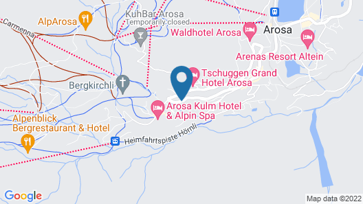 Hotel Alpensonne Map