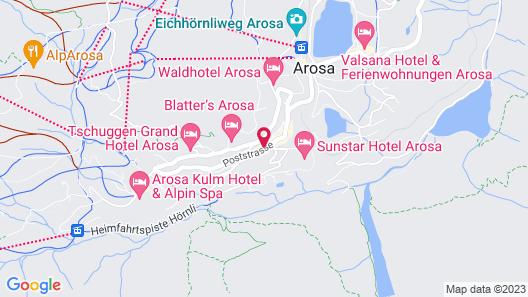 Chamanna Bed & Breakfast Arosa Map