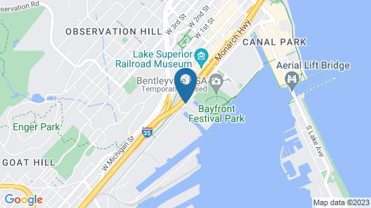 Pier B Resort Map