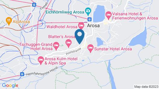 Hotel Hohe Promenade Arosa Map