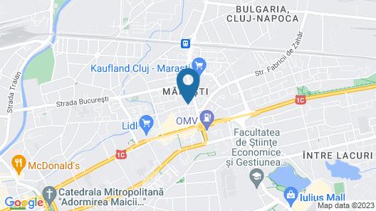 Hotel Paradis Cluj Napoca Map