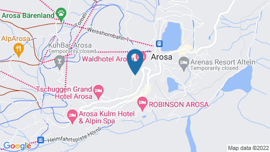 Arosa Mountain Lodge Map
