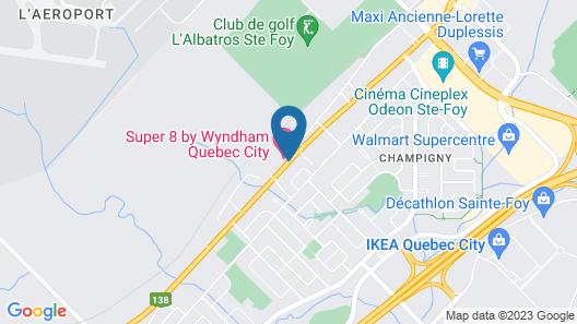 Super 8 by Wyndham Quebec City Map
