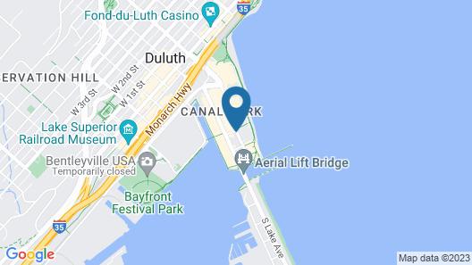 Comfort Suites Canal Park Map