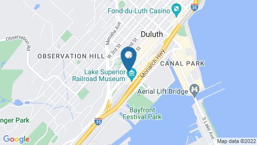 Radisson Hotel Duluth - Harborview Map