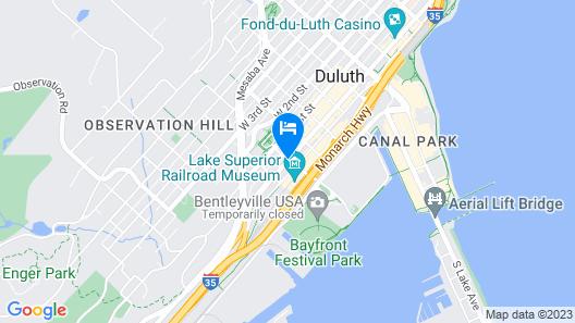 Radisson Hotel Duluth - Harborview Map