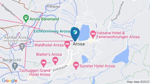 Arosa Vetter Hotel Map