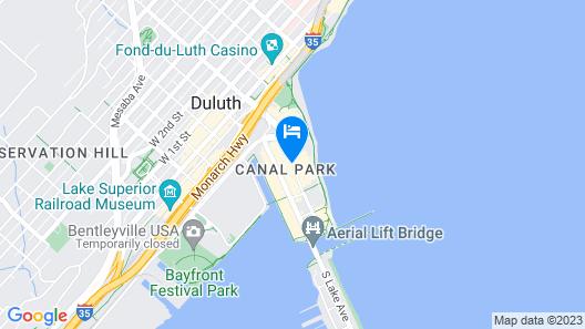 Hampton Inn Duluth Canal Park Map