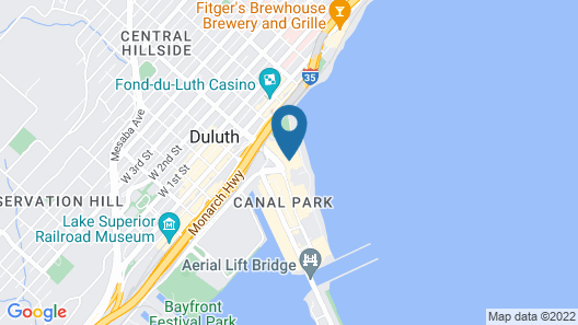 Canal Park Lodge Map