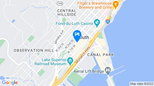 Holiday Inn & Suites Duluth Downtown, an IHG Hotel Map