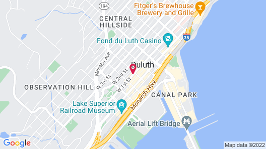 Holiday Inn & Suites Duluth Downtown Map