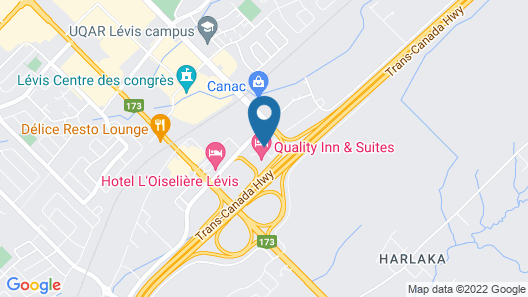 Quality Inn And Suites Levis Map