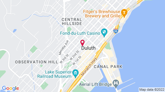 The Downtown Duluth Inn Map