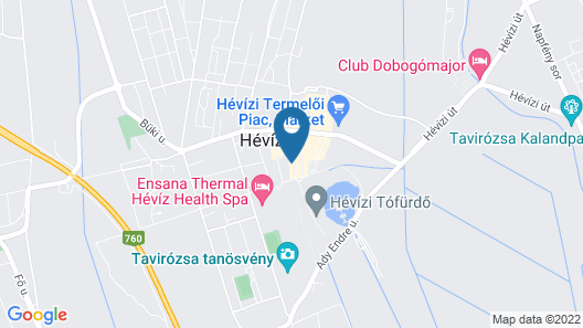 Bonvital Wellness & Gastro Hotel Hévíz - Adults Only Map