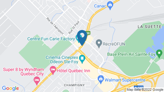 Chateau Repotel Duplessis Airport Map