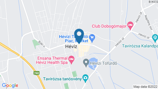 Palace Hotel Heviz Map