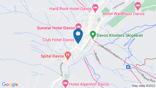 Club Hotel Davos Map