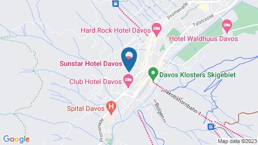 Sunstar Hotel Davos Map