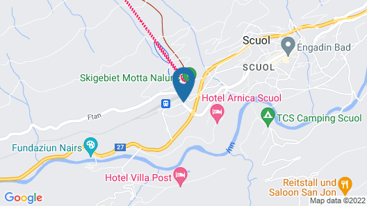 Youth Hostel Scuol Map