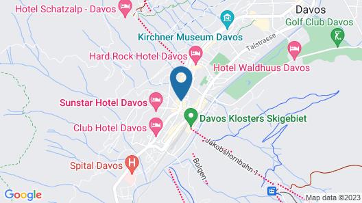 Morosani Posthotel Davos Map