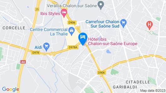 ibis budget Chalon Sur Saone Nord Map