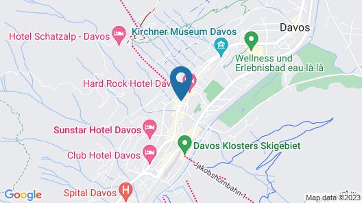 Hotel Europe Davos Map