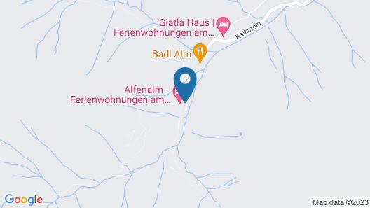 Ferienwohnungen am Berg - Almhütte Alfen Map