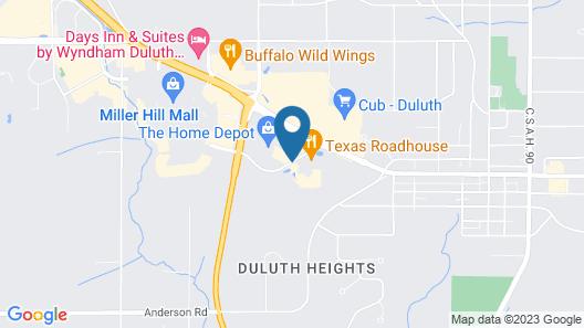 Hampton Inn & Suites Duluth North/Mall Area Map