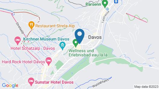 Hilton Garden Inn Davos Map