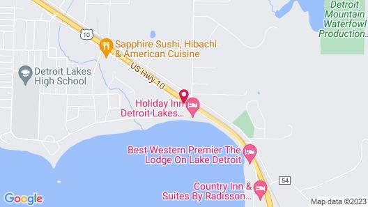 Holiday Inn Detroit Lakes, an IHG Hotel Map