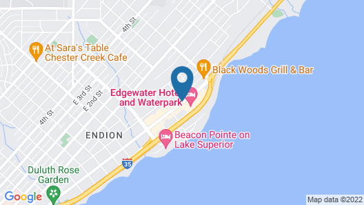 Edgewater Hotel & Waterpark Map