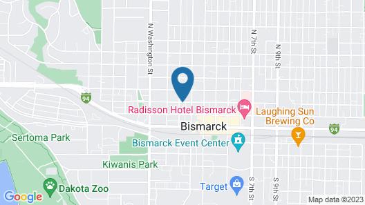 Budget Inn Express Bismarck Map