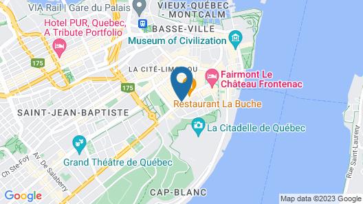 Hôtel Le Clos Saint-Louis Map