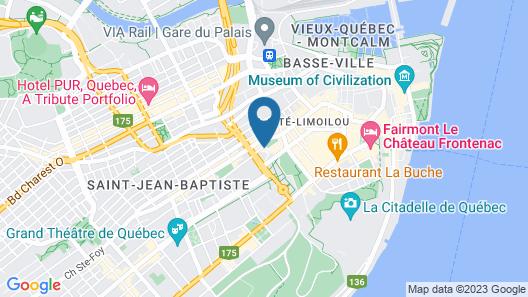 Quebec City Marriott Downtown Map