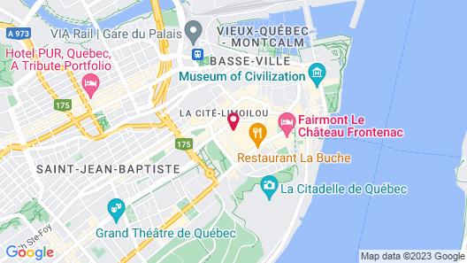 Hôtel Champlain Vieux Québec Map