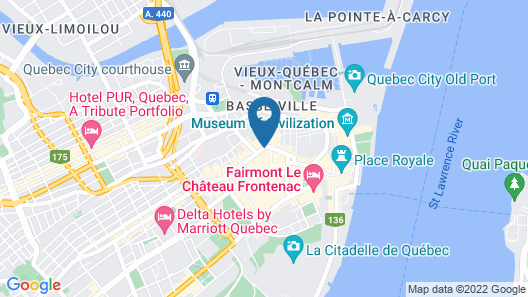 Hotel Du Vieux Quebec Map