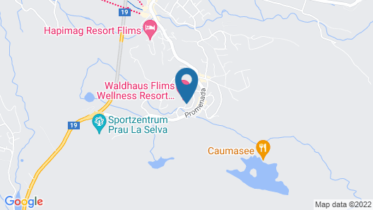 Waldhaus Flims Wellness Resort, Autograph Collection Map