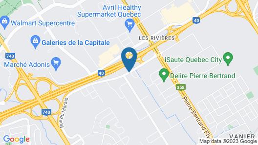 Hotel & Suites Le Dauphin Quebec Map