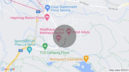 Luxus Neubau 2SZ 2bäder 8 min zu Caumasee und Talstation Netflix Disney+ Wifi Map