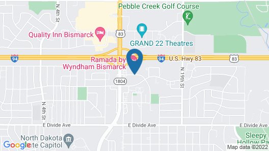 Americas Best Value Inn & Suites Bismarck Map