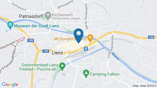 Vergeiner's Hotel Traube Map
