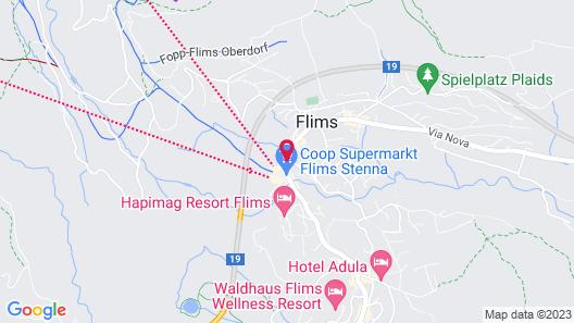 Hillsite Hotel Flims Map