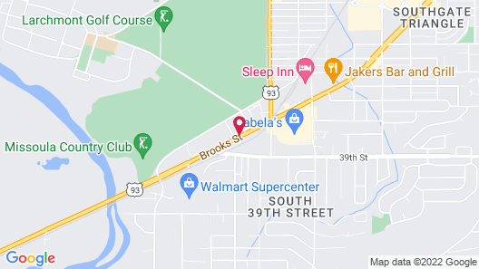 Super 8 by Wyndham Missoula/Brooks Street Map