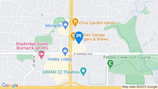 Hampton Inn Bismarck Map