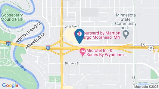 Courtyard by Marriott Fargo Moorhead, MN Map