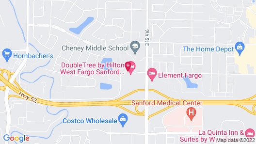 DoubleTree by Hilton West Fargo Sanford Medical Center Area Map