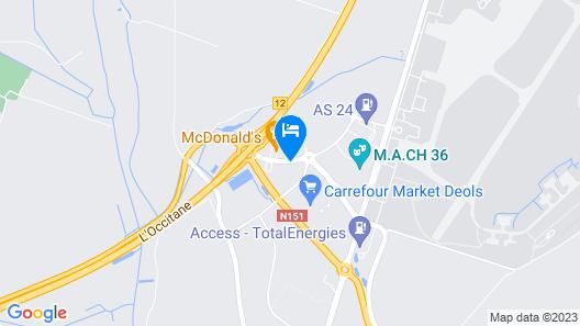 B&B Hotel Chateauroux Déols Map