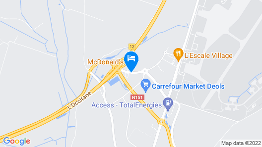 ibis budget Chateauroux Deols Map